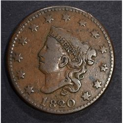 1820/19 LARGE CENT, FINE