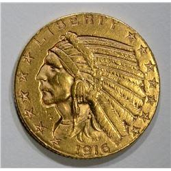 1916-S $5 GOLD INDIAN HEAD  BU