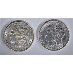 1887 & 1896 MORGAN DOLLARS CH AU