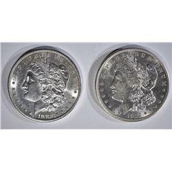 1882-S & 1921-D MORGAN DOLLARS CH BU
