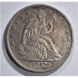 1857 SEATED LIBERTY HALF XF