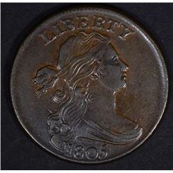 1805 LARGE CENT CH AU, LIGHT SCRATCHES OBV.