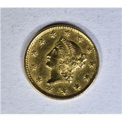 1851 C $1.00 GOLD  AU/BU