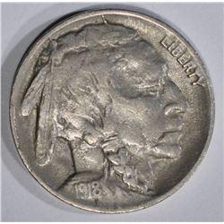 1918-D BUFFALO NICKEL  FULL CHOICE XF