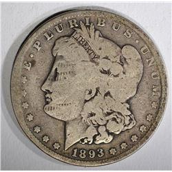 1893-S MORGAN DOLLAR  VG