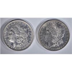 1884 & 1891-O MORGAN DOLLARS AU