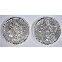 1878-S & 1902 MORGAN DOLLARS AU+