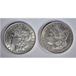 1891 AU/BU, & 1897-O AU MORGAN DOLLARS
