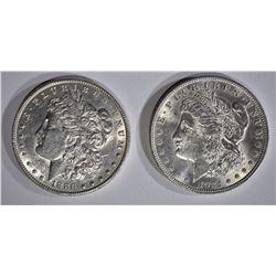 1886 AU, & 1921 CH BU MORGAN DOLLARS