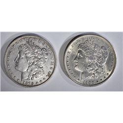 1878 7/8TF AU & 1900 CH AU MORGAN DOLLARS