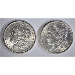 1889 & 1890 MORGAN DOLLARS BU