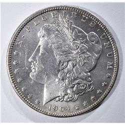 1904 MORGAN DOLLAR AU/BU CLEANED