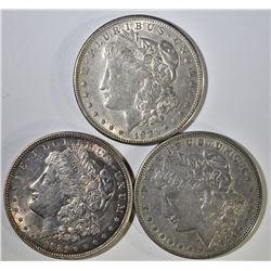1921-P-D-S CIRC MORGAN DOLLAR SET