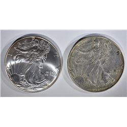 1998 & 1994 BU AMERICAN SILVER EAGLES