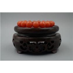 Red Agate(Lianheliao) Bead Bracelet