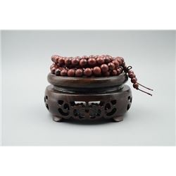 Pterocarpus Santalinus Rosewood Buddhist Prayer Bead Bracelet.