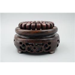 Rosewood Barrel Bead Bracelet