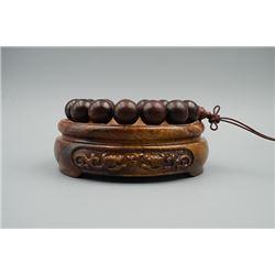Rosewood Beads Bracelet.
