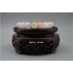 Multi Colors Morganite Bead Bracelet