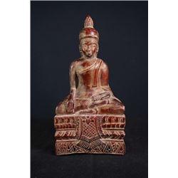 17th Century Lacquer Wood Buddha Statue