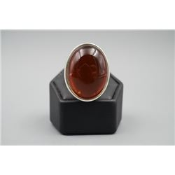A baltic cherry amber ring.