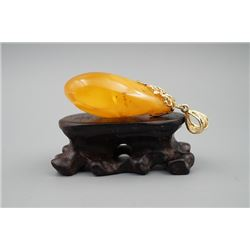 A baltic amber butterscotch pendant.