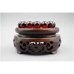 A baltic amber cherry beads bracelet.