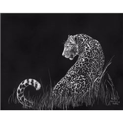 "Sherry Steele Art Work Leopard ""Moonlight Moment"""