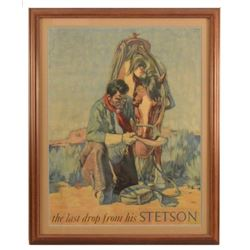 Vintage Stetson Hats Advertising Poster