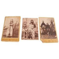 3 American Indian Cabinet Photos Fort Sill O.T.