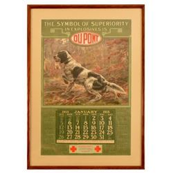 1913 DuPont Smokeless Powder Advertising Calendar