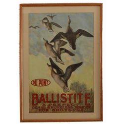 1913 DuPont Ballistite Smokeless Powder Poster