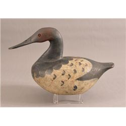 Antique Hand Carved Canvasback Duck Decoy
