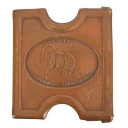 Antique Texas Cattlemen's Assoc. Mills Belt Buckle