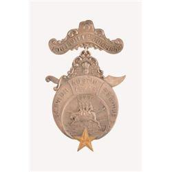 1909 Ben-Hur Temple Medal  Austin, Texas