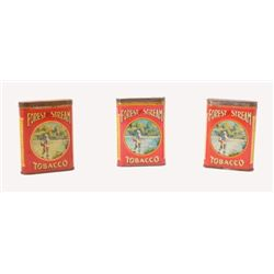 Collection Of 3 Forest  And Stream Tobacco Tins