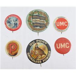 Dupont, Remington, & UMC Advertising Pins