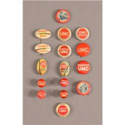 16 Remington Arms Co. Advertising Pinback Buttons