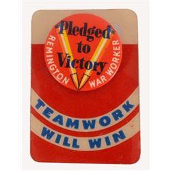 Remington War Worker Pinback Button