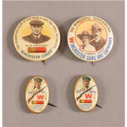 Winchester Gun Advertising Pinback Buttons
