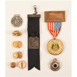1902 Trap Shooting Badges, Pins, & Medals