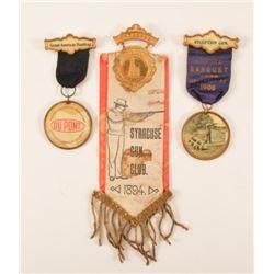 1894-1910 Trap Shooting Badges & Ribbons
