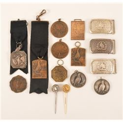 Trap Shooting Belt Buckles, Medals, & Pins