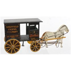 Sheffield Farms Wooden Wagon & Horse
