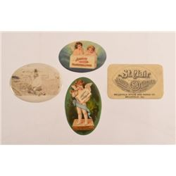 Collection Of 4 Advertising Pocket Mirrors