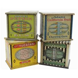 Four Antique Tin Candy Boxes