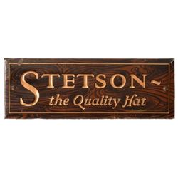 Stetson Hats Countertop Country Store Sign