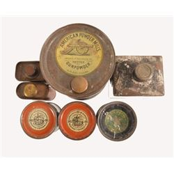 Antique Kentucky Rifle Gun Powder Tins