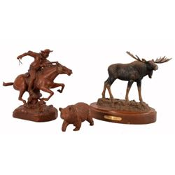 Winchester Rider Sculpture Moose & Bear