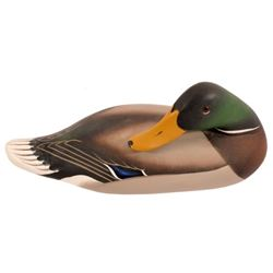 Charlie Joiner Carved Sleeping Mallard Duck Decoy